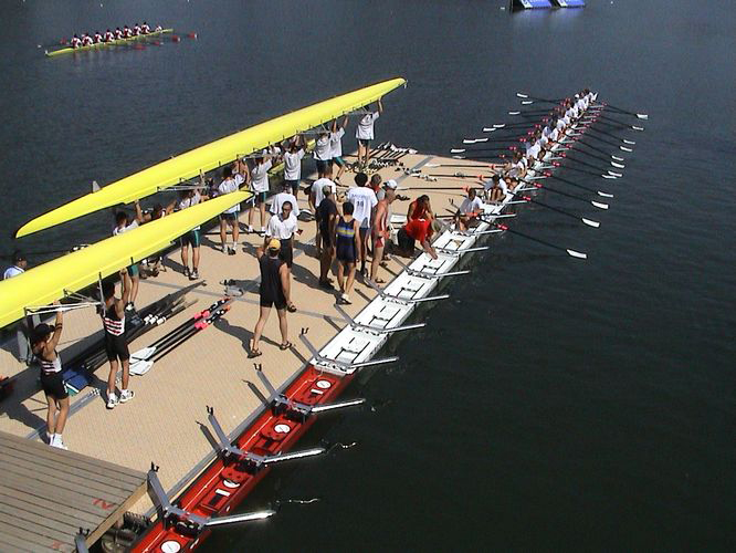 International standardized light rowing pontoon